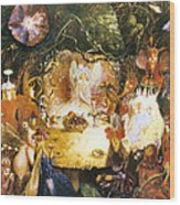 The Fairies Banquet Wood Print by John Anster Fitzgerald