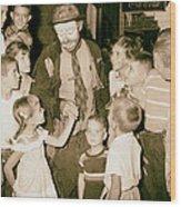 The Famous Clown Emmett Kelly 1956 Wood Print