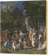 The Feast Of The Gods Wood Print