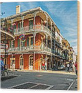 The French Quarter Wood Print