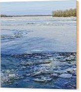 The Frozen Dnieper River Wood Print
