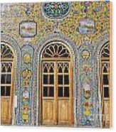 The Golestan Palace In Tehran Iran Wood Print