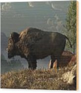 The Great American Bison Wood Print by Daniel Eskridge
