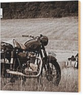 The Great Escape Motorcycle Wood Print