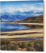 The Great Salt Lake Wood Print