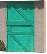 The Green Door Wood Print
