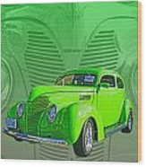 The Green Machine Wood Print