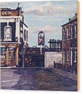 The Gun Public House Isle Of Dogs London Wood Print