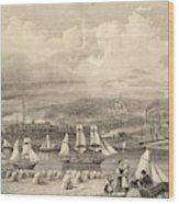 The Haematite Ironworks, Barrow Wood Print
