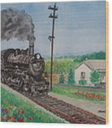 The Hillsboro Local Passing My Birthplace At Sardinia Wood Print
