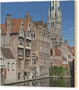 The Historic Center Of Bruges Wood Print