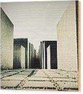 The Holocaust Memorial Berlin Germany Wood Print