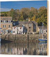 The Inner Harbour At Padstow Wood Print