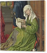 The Magdalen Reading Wood Print
