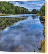 The Majestic Bald Mountain Pond Wood Print