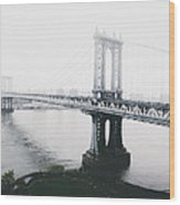 The Manhattan Bridge Wood Print