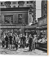 The Market At Pike Place Wood Print by David Patterson
