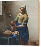 The Milkmaid Wood Print
