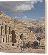 The Monastery El Deir Or Al Deir Wood Print