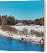 The Moose River - Old Forge New York Wood Print