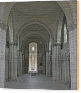 The Nave - Cloister Fontevraud Wood Print