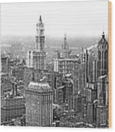 The Ny Financial District Wood Print