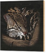 The Ocelot Wood Print