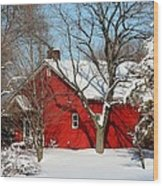 The Old Red House Wood Print