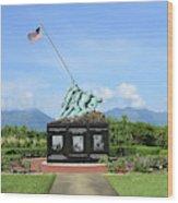 The Pacific War Memorial On Marine Wood Print