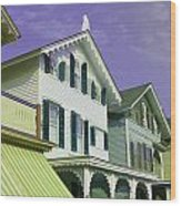 The Painted Ladies Of Cape May Wood Print
