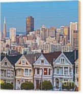 The Painted Ladies Of San Francisco Wood Print