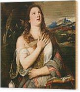 The Penitent Magdalene Wood Print
