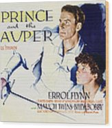 The Prince And The Pauper, Errol Flynn Wood Print
