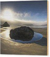 The Rock Wood Print by Debra and Dave Vanderlaan