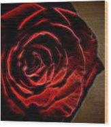 The Rose Digital Art Wood Print