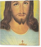 The Sacred Heart Of Jesus Wood Print