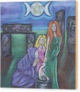 The Silvery Moon Wood Print