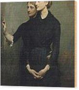 The Sisters Wood Print