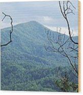 The Smokey Mtn. Wood Print