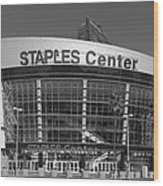 The Staples Center Wood Print
