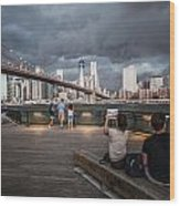 The Storm Over Manhattan Wood Print