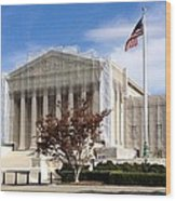 The Supreme Court Facade Wood Print