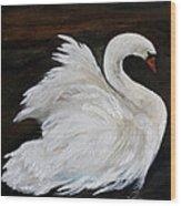 The Swans Of Albury Manor I Wood Print