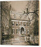 The Taft House - Brown University 1958 Wood Print