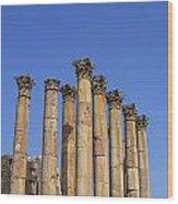 The Temple Of Artemis At Jerash Jordan Wood Print