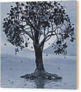 The Tree That Wept A Lake Of Tears Wood Print