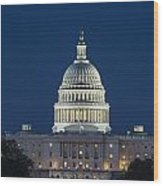 The United States Capitol Building Wood Print