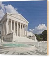 The Us Supreme Court Building Wood Print