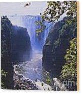The Victoria Falls Wood Print