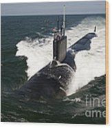 The Virginia-class Attack Submarine Uss Wood Print